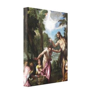 El bautismo de Cristo de Paolo Veronese Lona Estirada Galerías
