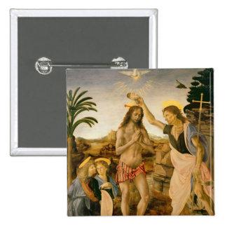 El bautismo de Cristo de San Juan Bautista Chapa Cuadrada 5 Cm