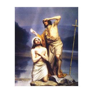 El bautismo de Cristo Impresiones En Lienzo Estiradas