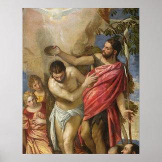 El bautismo de Cristo Poster