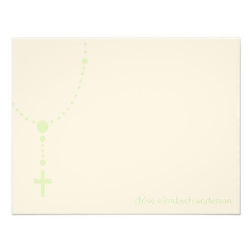 El bautismo de encargo del rosario verde le agrade comunicado personalizado