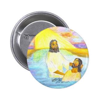 El bautismo de Jesús Chapa Redonda De 5 Cm