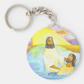 El bautismo de Jesús Llavero Redondo Tipo Chapa
