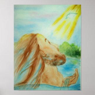 El bautismo de Jesús Poster