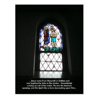 El bautismo de Jesús (tarjeta de la meditación) Postal