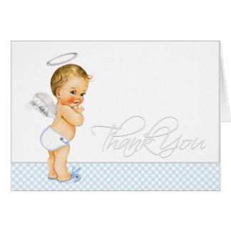El bautismo de los azules cielos le agradece las tarjeta pequeña