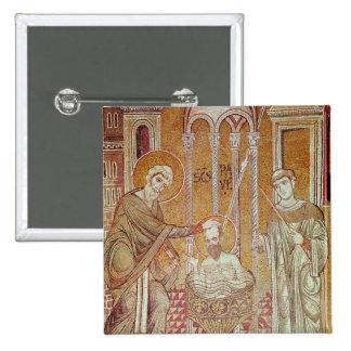 El bautismo de San Pablo por Ananias Chapa Cuadrada 5 Cm