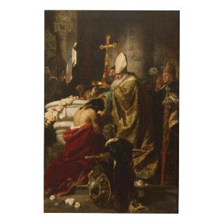 El bautismo de Vajk de Gyula Benczúr (1875) Impresiones En Madera