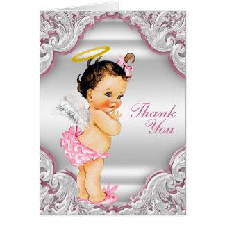 El bautismo del ángel de los chicas le agradece tarjeta pequeña