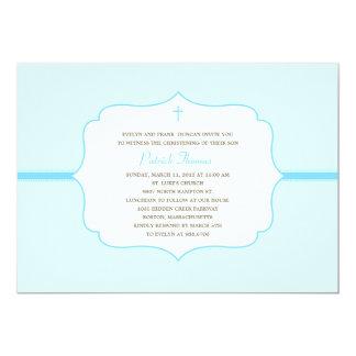 El bautismo/el bautizo simplemente elegantes invitación 12,7 x 17,8 cm