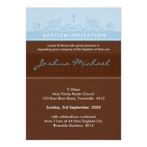 EL BAUTISMO ELEGANTE INVITA:: 3P elegante Invitación Personalizada