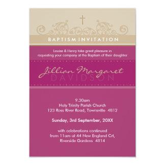 EL BAUTISMO ELEGANTE INVITA:: 4P elegante Invitación 12,7 X 17,8 Cm