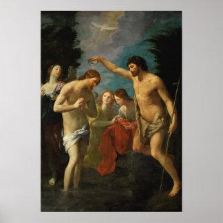 """""""El bautismo poster del arte de Cristo"""""""