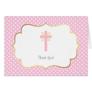 El bautismo rosado del lunar le agradece oro y tarjeta pequeña