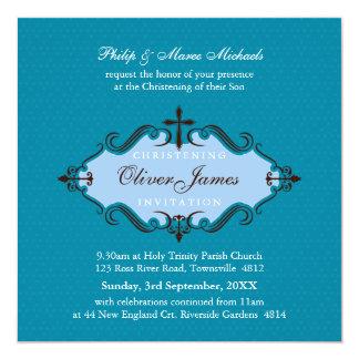 EL BAUTIZO INVITA:: viva 10SQ Invitación 13,3 Cm X 13,3cm