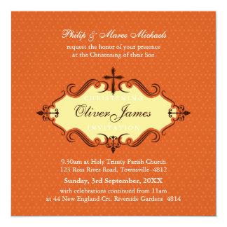 EL BAUTIZO INVITA:: viva 1SQ Invitación 13,3 Cm X 13,3cm