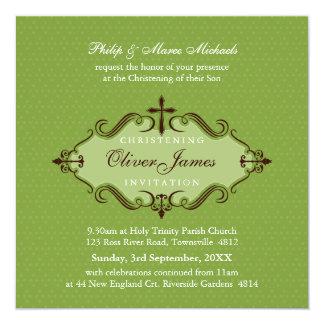 EL BAUTIZO INVITA:: viva 9SQ Invitación 13,3 Cm X 13,3cm
