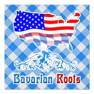 El Bavarian americano arraiga invitaciones Invitación 13,3 Cm X 13,3cm