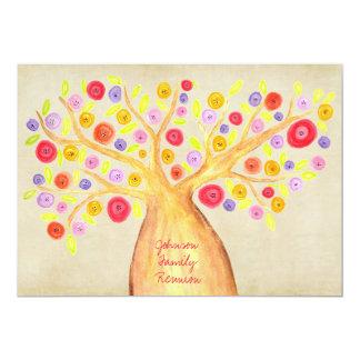 El Bbq del fiesta de la reunión del árbol de Invitación 12,7 X 17,8 Cm