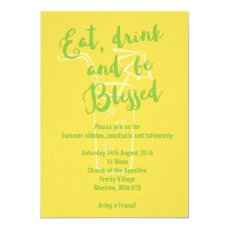 El Bbq del verano come la bebida y sea invitación