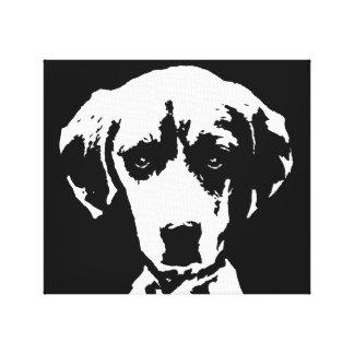 El beagle negro y el blanco envolvieron arte de la