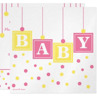 El BEBÉ bloquea la fiesta de bienvenida al bebé Invitación 13,3 Cm X 13,3cm