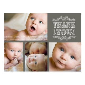 El bebé de color topo de la foto del VINTAGE le Postal