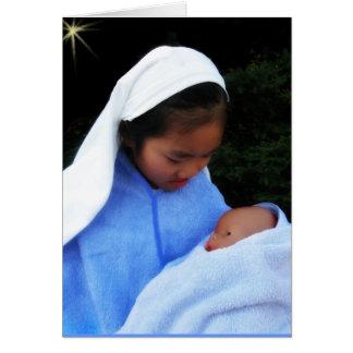 El bebé de Maria Tarjeta De Felicitación