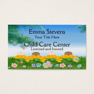 El bebé del cuidado de niños florece la plantilla tarjeta de visita