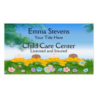 El bebé del cuidado de niños florece la plantilla tarjetas de visita