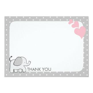El bebé del rosa del elefante de la guinga le invitación 11,4 x 15,8 cm