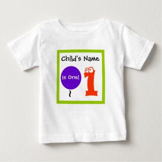 el bebé es un 1, 1r primer cumpleaños, camiseta