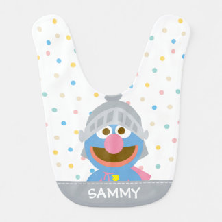 El bebé Grover en la armadura el | añade su nombre Babero