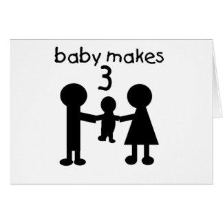 El bebé hace 3 tarjeta de felicitación