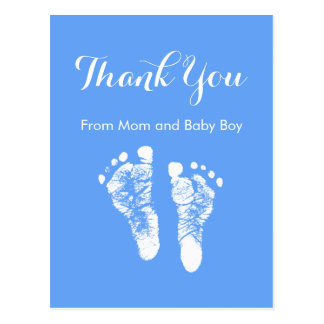 El bebé le agradece las huellas recién nacidas azu