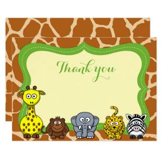 El bebé neutral animal del safari de selva le invitación 12,7 x 17,8 cm