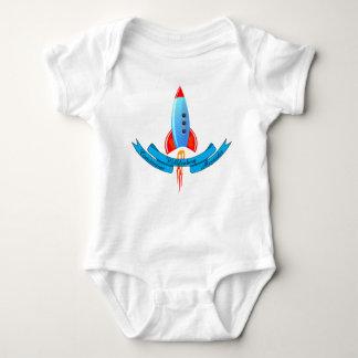 El bebé nombra la bandera y a Rocket Body Para Bebé