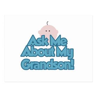 El bebé pregunta por mis regalos del nieto postal