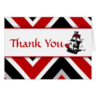 El bebé rojo del pirata le agradece tarjeta de