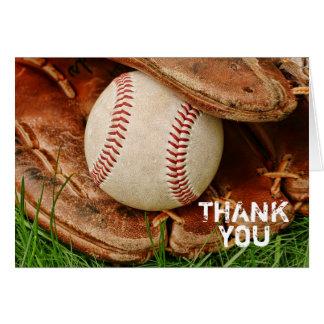 El béisbol con el mitón viejo le agradece cardar felicitacion