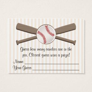 El béisbol cruzado golpea la fiesta de bienvenida tarjeta de visita