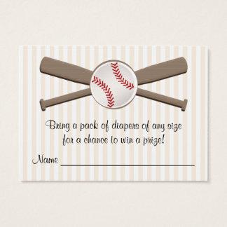 El béisbol cruzado golpea tarjetas de la rifa del