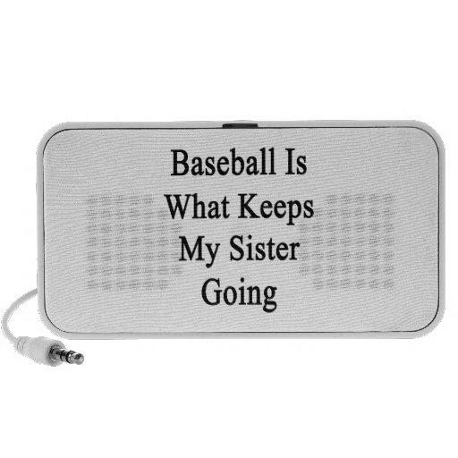 El béisbol es qué guarda mi ir de la hermana iPod altavoz