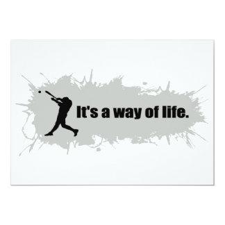 El béisbol es una manera de vida invitación 12,7 x 17,8 cm