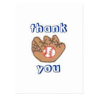 El béisbol le agradece postal