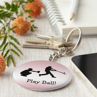 El béisbol rosado se divierte llavero