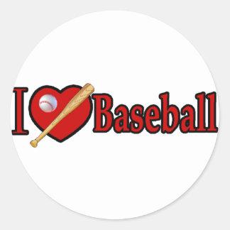 El béisbol se divierte los regalos del amante pegatina redonda
