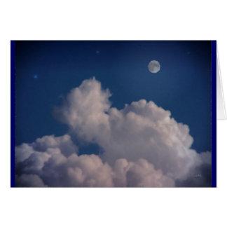 El beso buenas noches tarjeta de felicitación