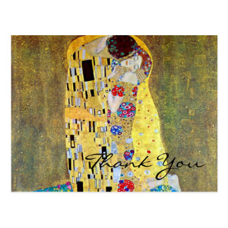 El beso de Gustavo Klimt, arte Nouveau del vintage Postales