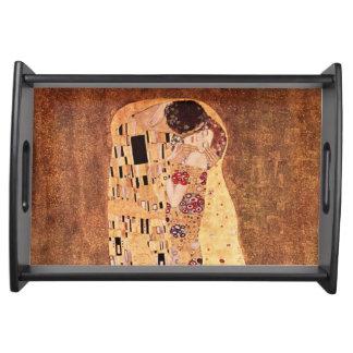 El beso de Gustavo Klimt Bandejas